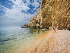 Famous Golden beach in Stara baska on the southern side of Krk Island