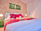 Villa with pool by the sea - first romantic double bedroom with SAT-TV