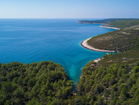 Beautiful bays at the end of Istrian Peninsula
